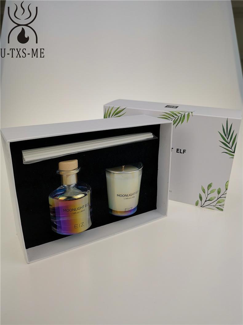 玻璃杯家居植物精油环保进口大豆蜡烛散香器爱博国际lovebet套装伴手礼示例图4