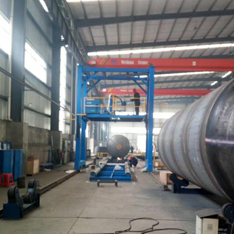 20吨自调焊接滚轮架  江苏厂家非标定制皇泰操作机 可调滚轮架示例图5