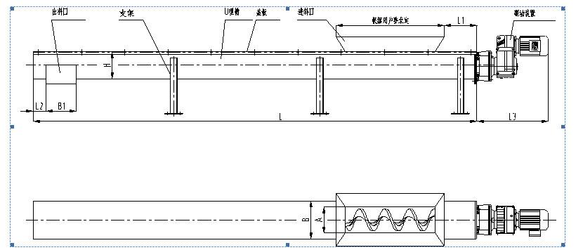 江苏如克WLSY -2601500不锈钢输送机 非标生产不锈钢泥饼输送机示例图3