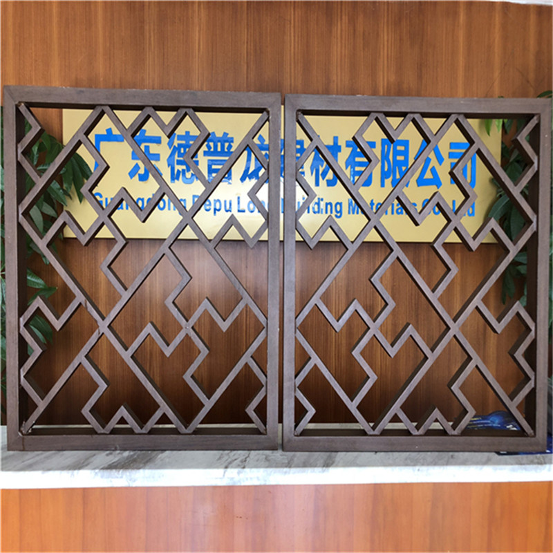 旅游景区木纹铝窗格时尚装饰效果示例图1