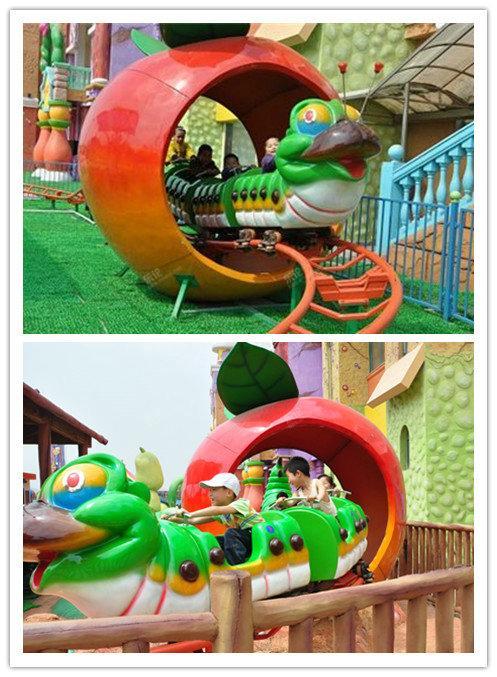 可爱的青虫造型之果虫滑车游乐设备 小朋友喜爱公园轨道果虫滑车示例图20