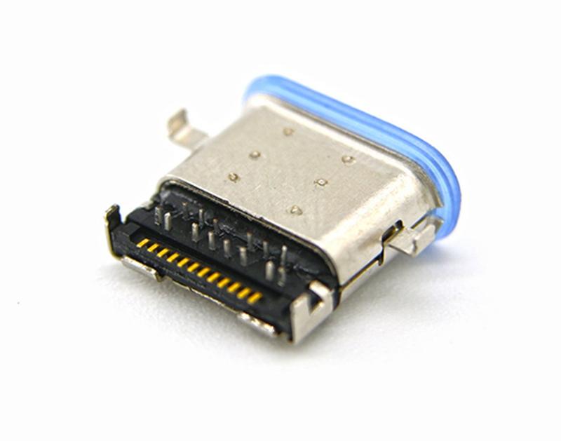 4:沉板式USB 3.1母座 防水Type-C母座 大电流TYPE C充电插头.jpg
