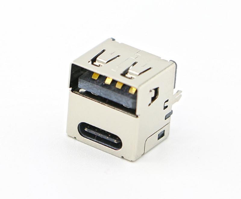 7:USB3.0 TYPE C+USB2.0母座 直插立式3.1双USB母座 二合一USB母座.jpg