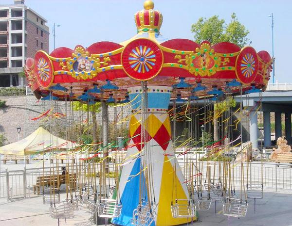 广场销售火爆儿童旋转迷你小飞椅 大洋厂家专业定制12座迷你飞椅示例图16