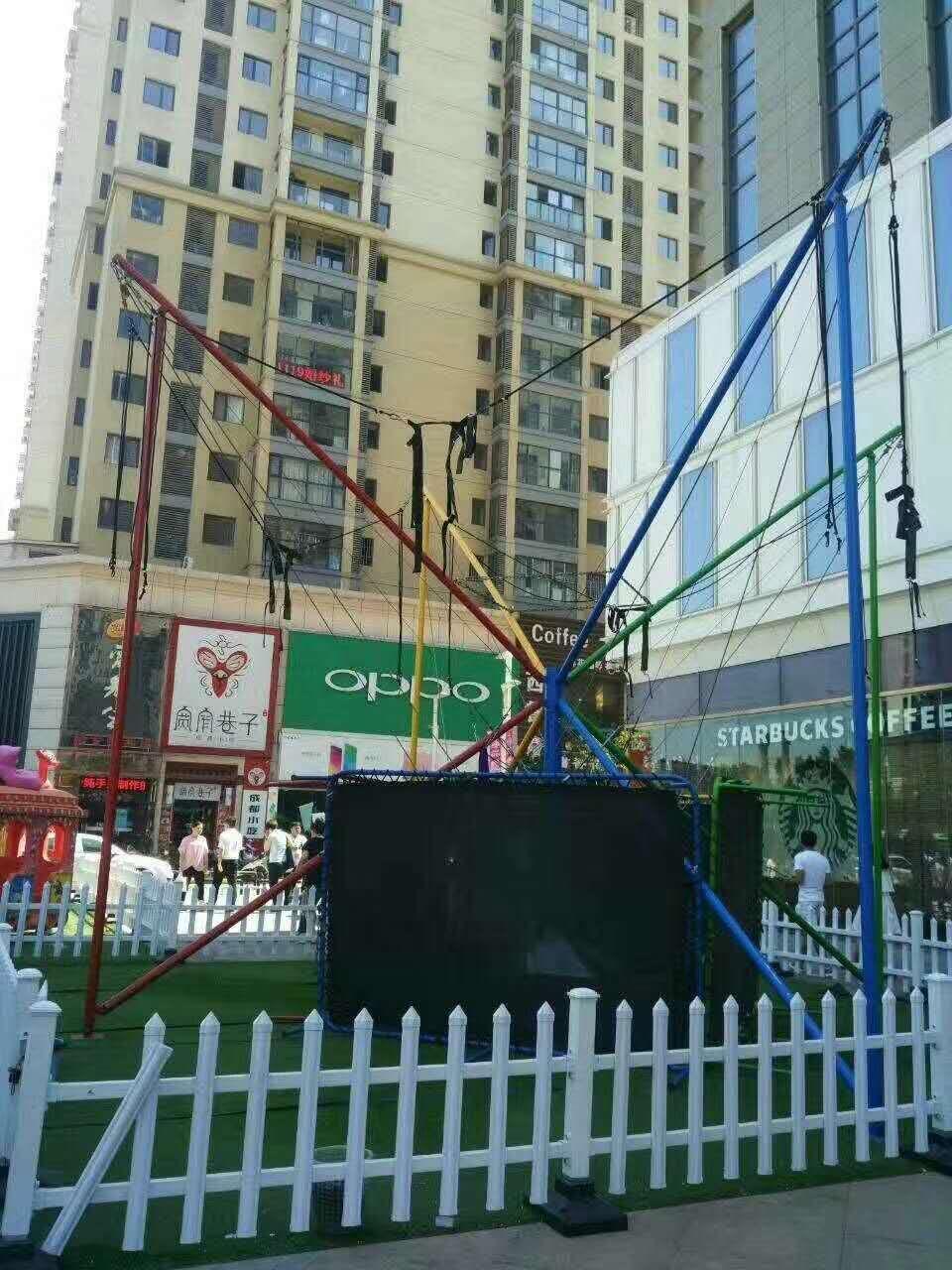 新款广场小型游乐设备小蹦极 郑州大洋专业生产4人蹦极游乐设备示例图4