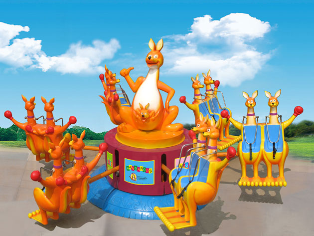 大洋现货供应公园户外游乐儿童欢乐袋鼠 疯狂弹跳8臂欢乐袋鼠项目示例图7