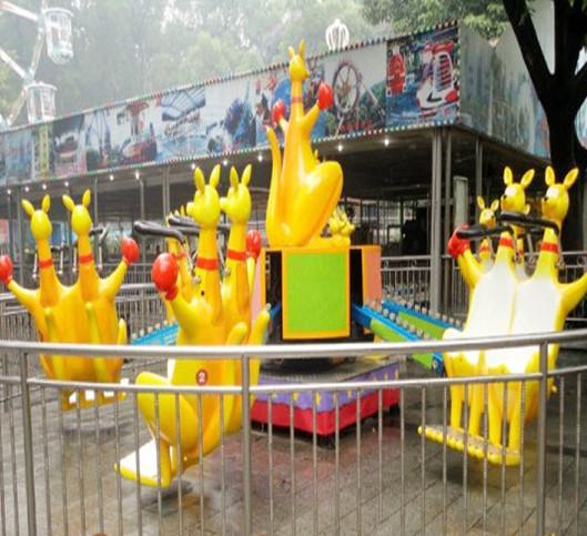 大洋现货供应公园户外游乐儿童欢乐袋鼠 疯狂弹跳8臂欢乐袋鼠项目示例图16