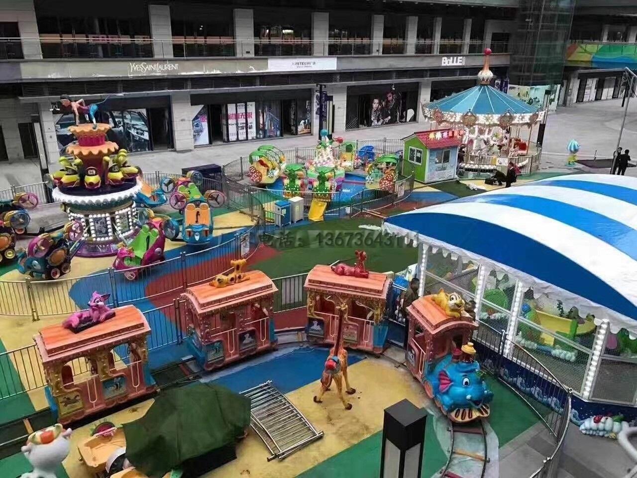 新款16座豪华转马夜景图片 儿童游乐设备旋转木马大洋生产厂家示例图9