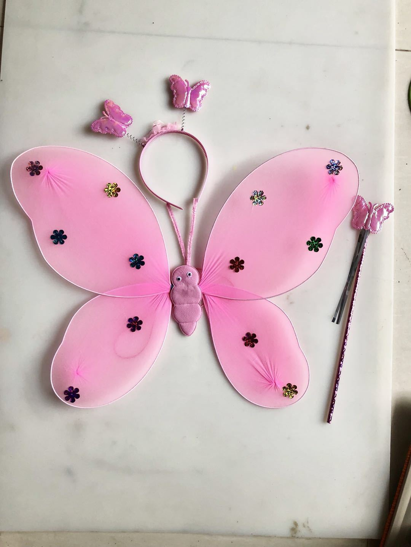 厂家直销蝴蝶翅膀单层三件套天使翅膀六一儿童演出蝴蝶翅膀示例图6