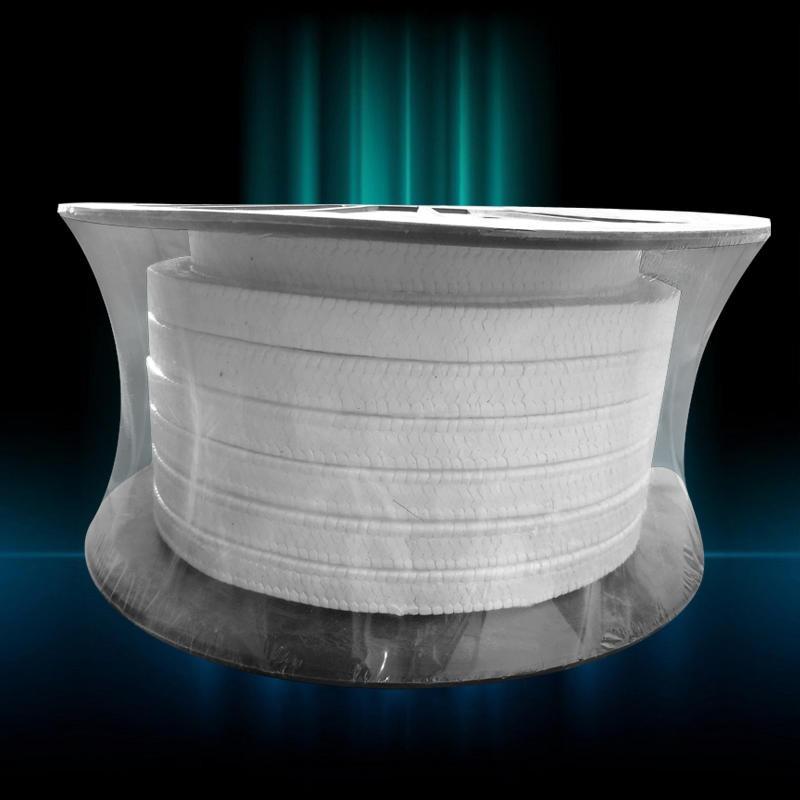 纯聚四氟乙烯盘根 含油黑白四氟盘根填料厂家