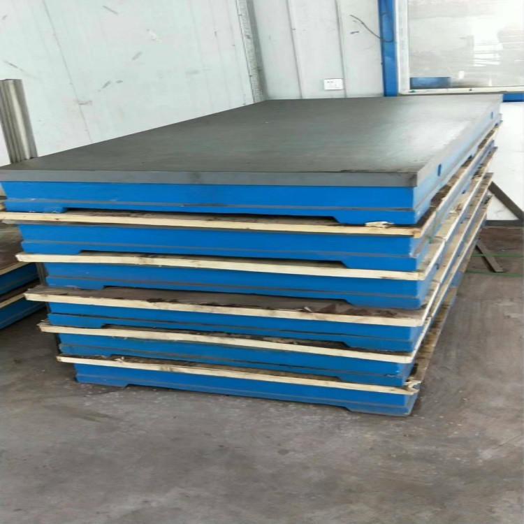 無錫400600鑄鐵平板 鑄鐵平臺 機床工作臺 梯形槽平板三本機床現貨供應