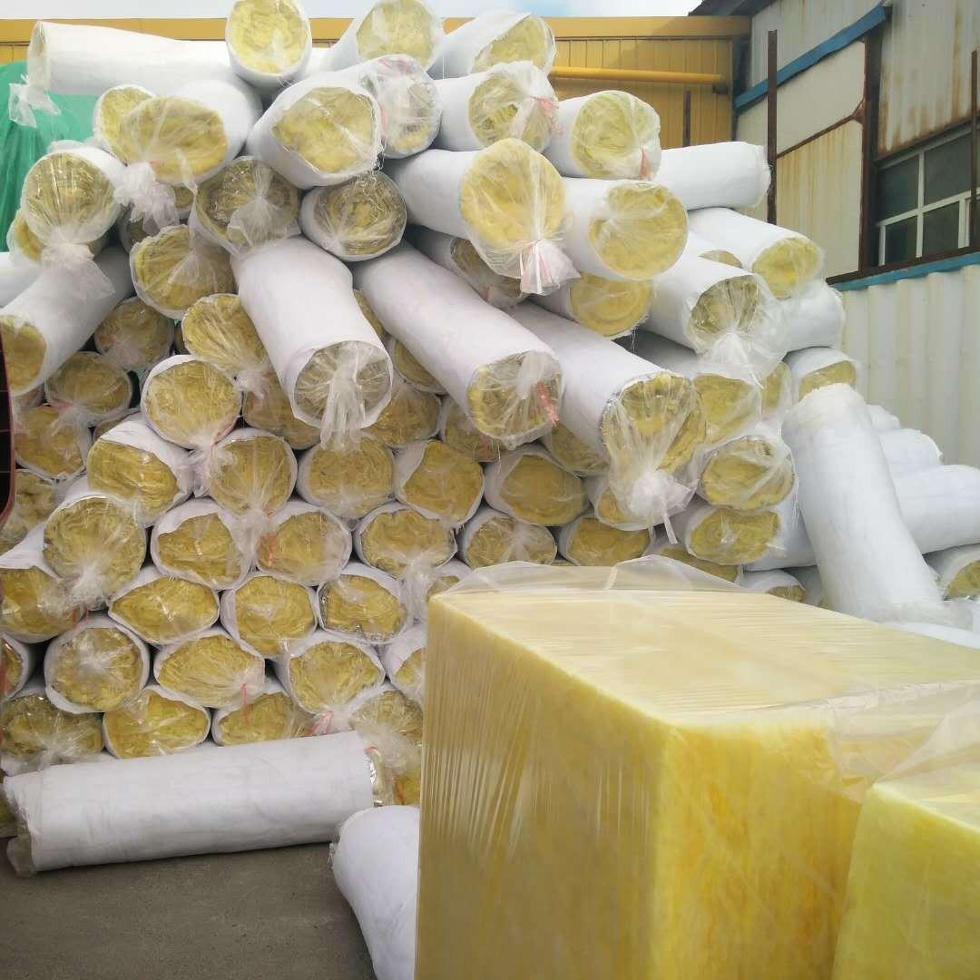 烏魯木齊玻璃棉卷氈 5公分厚10公分厚雙面鋁箔現貨 玻璃棉管殼 玻璃棉板批發