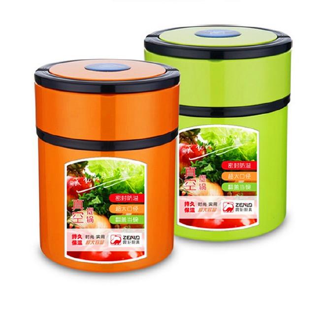 保温饭盒3层便携手提便当盒不锈钢真空保温提锅桶 密封汤盒焖烧壶图片