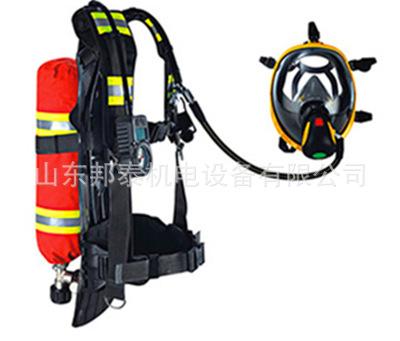 3C消防�J�C呼�吸器配件RHZK6.8消防呼吸器出言��道面罩 救�生器材全面罩示例�D6