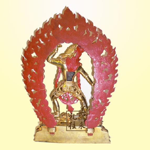 好�9i�9�)���_【藏傳佛教空行母DAKINI鎏金紫銅佛像大力威怒金剛空行母
