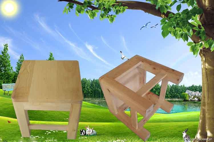 鑫繁木业直销柏木家用小方凳适用凳子实木幼儿园儿童小板凳木凳示例图7
