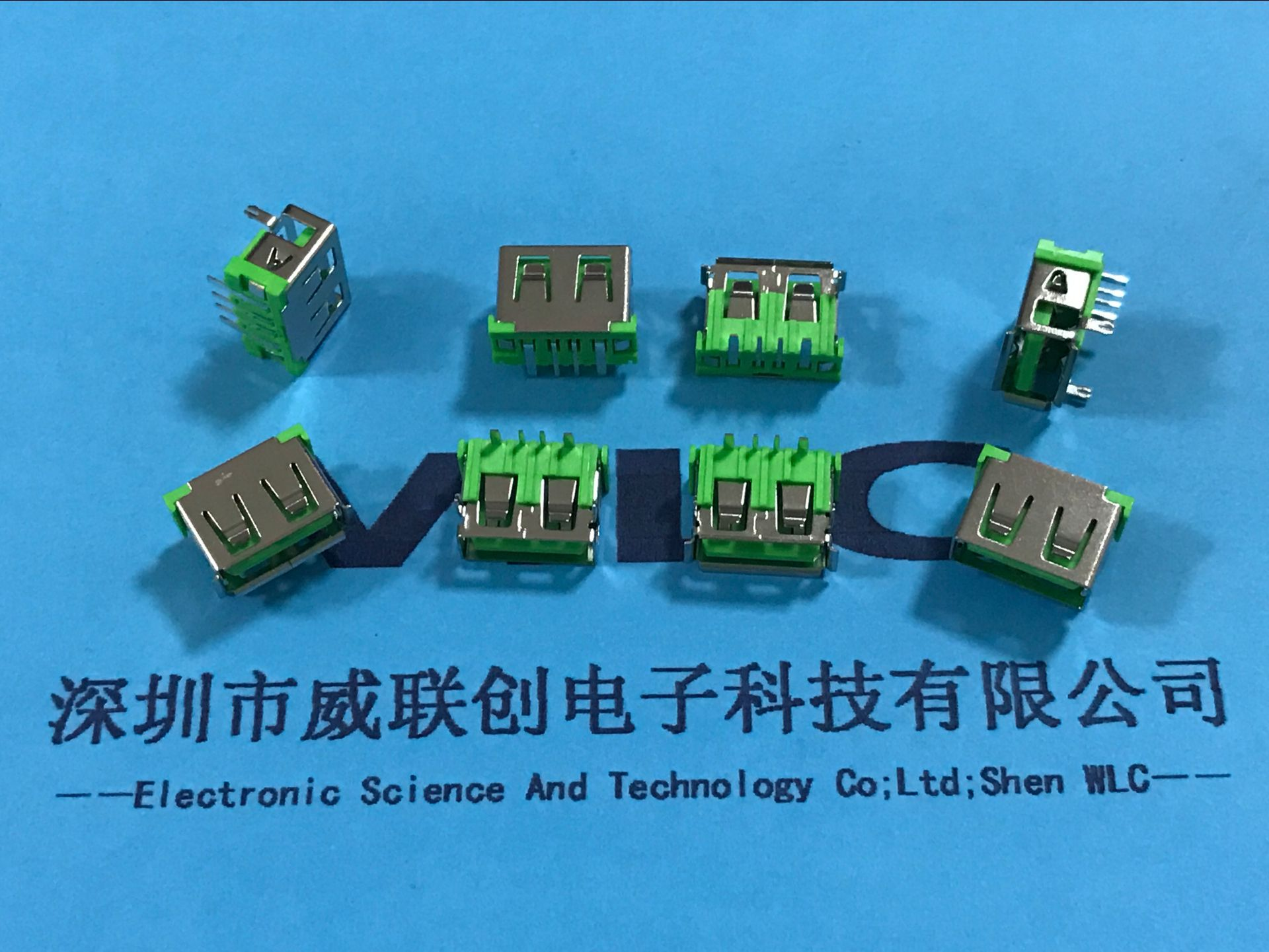 大电流沉板USB10.0短体母座(沉板1.9mm)直边米黄胶示例图4
