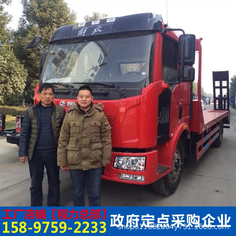 東風多利卡12噸挖掘機平板運輸車挖機平板拖車工程機械運輸車廠家示例圖2