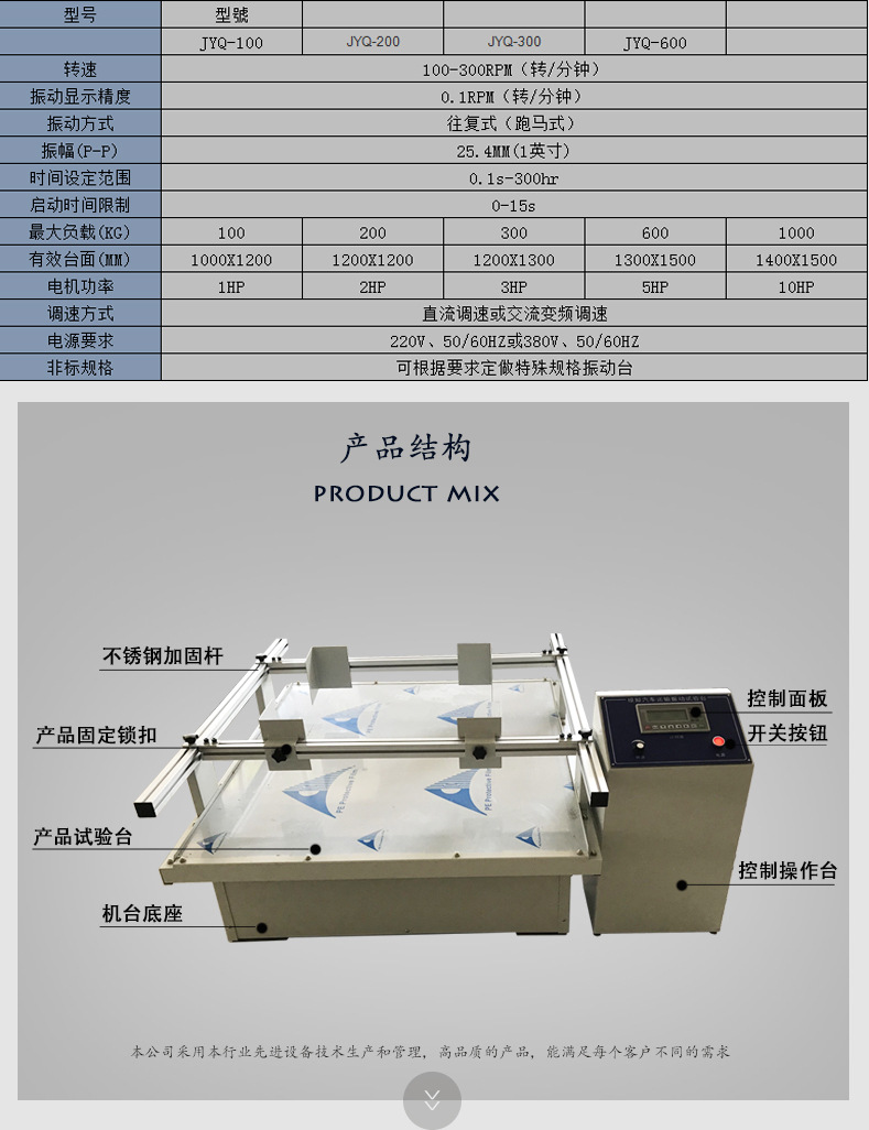 模拟汽车运输振动试验台 采用重型槽钢底座配减震橡胶 促销中示例图5