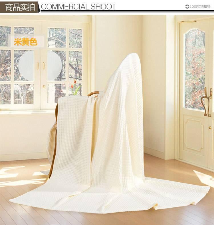艺特佳家纺冰淇淋纹双人单人加厚全棉毛巾毯空调毯夏被毛毯特价示例图19