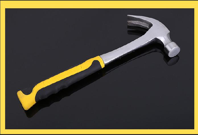 五金工具皓成连体羊角锤 包塑柄防震羊角锤木工锤多功能锤子示例图9