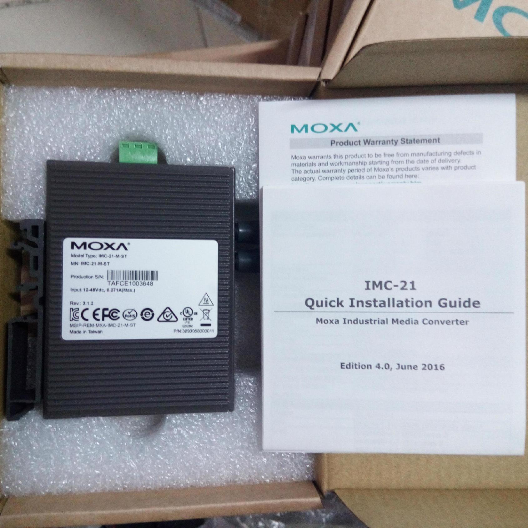 moxa 工业级光收发器100M接口st sc 型号ma21示例图7