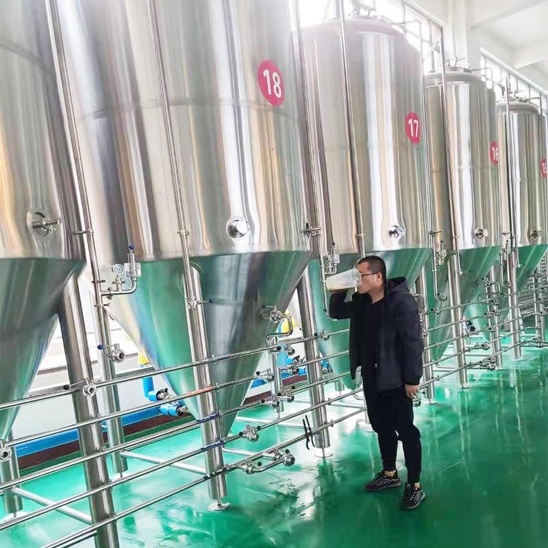 廠家供應小型精釀啤酒設備家用釀酒設備啤酒廠扎啤機商用發酵設備一體機