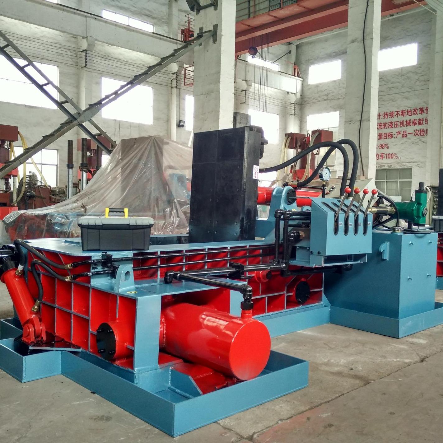 廠家直銷廢金屬打包機 冶金液壓YDF-130廢金屬液壓打包機