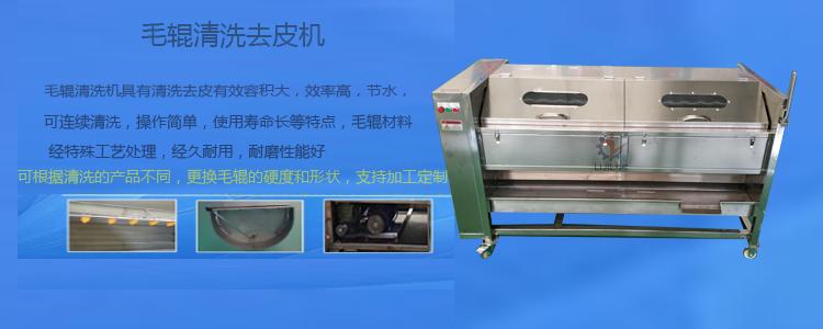 利杰LJ-1200花生去泥毛刷清洗機 毛輥去皮機 不銹鋼蓮藕清洗機 廠家直銷定制示例圖3