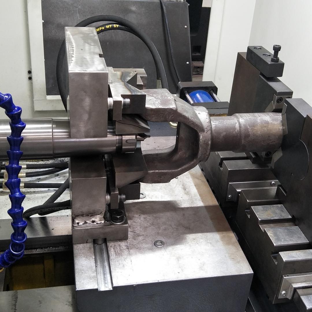 軸叉銑端面鉆中心孔專機丨活塞桿平端面打中心孔機床丨銷軸銑打機
