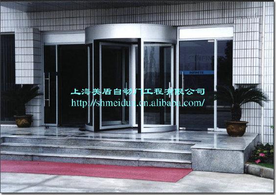 厂家直销 襄阳 写字楼学校手推旋转门 不锈钢门 A级 玻璃旋转门