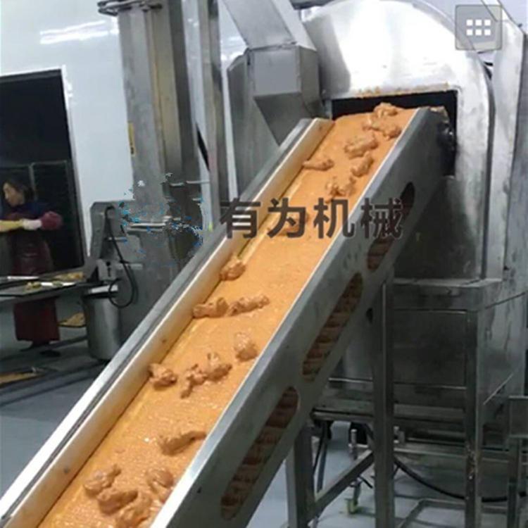 有為牌雞腿裹粉機 翅中裹粉機設備廠家 可帶原材料試機