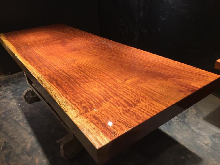 奥坎竞技宝和雷竞技哪个好大板原木餐桌 中式茶桌 老板办公雷竞技靠谱吗套装组合巴花大板示例图12
