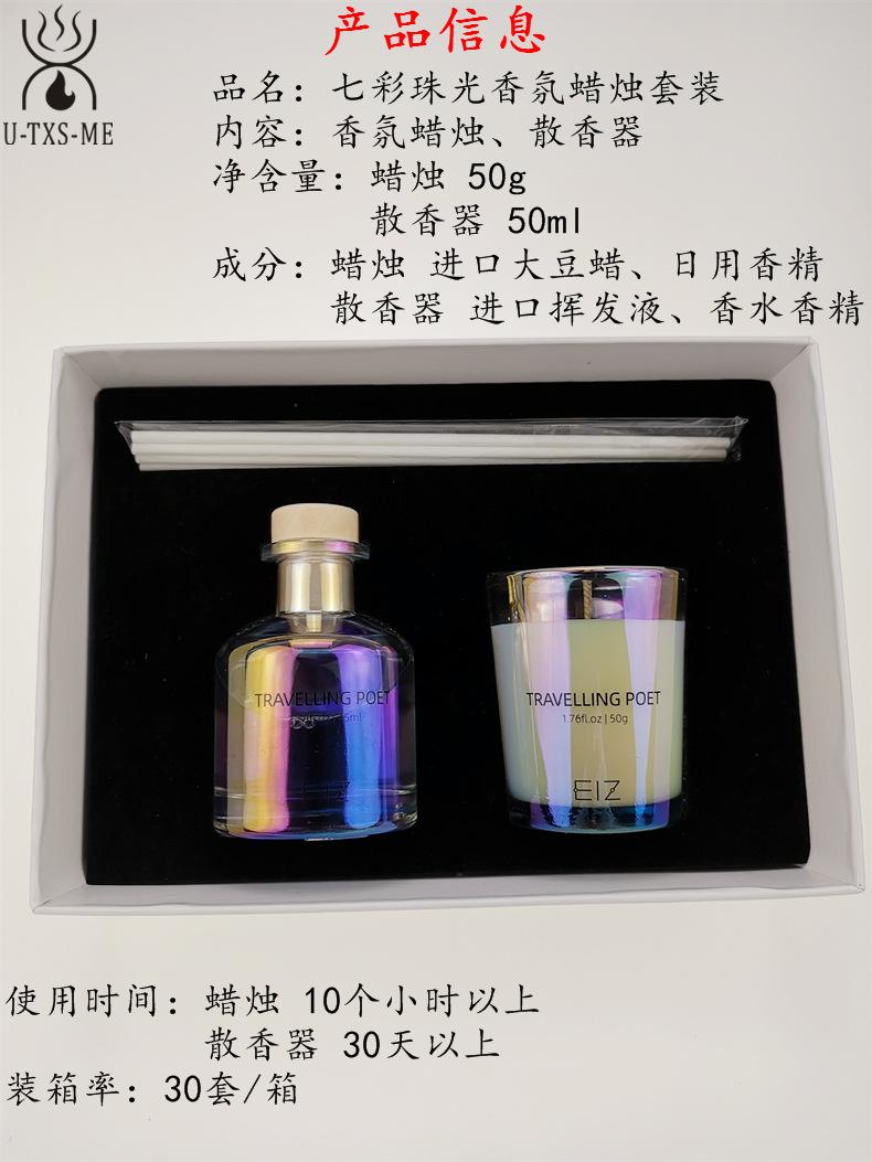 玻璃杯家居植物精油环保进口大豆蜡烛散香器香薰套装伴手礼示例图2
