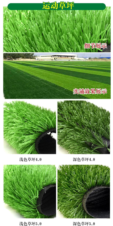 仿真草坪人造草 假草坪地毯 幼儿园彩色草皮人工塑料假草绿色户外示例图15