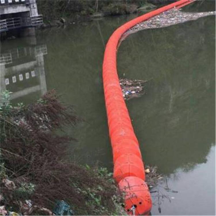 水电站大跨度水面拦垃圾浮筒 水产养殖区域水面警示浮排 养殖水域漂浮垃圾拦截浮排