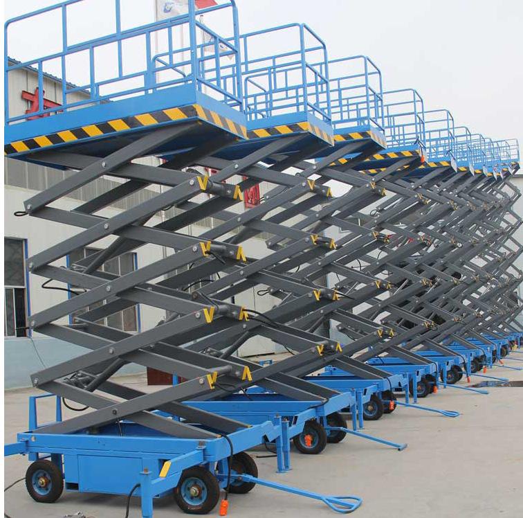 厂家生产剪叉升降平台 移动液压升降台家用小型电梯移动式升降机示例图15