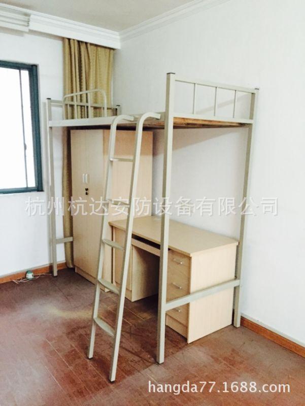 厂家供应学校宿舍双层床定做钢制部队上下公寓床质保5年示例图3