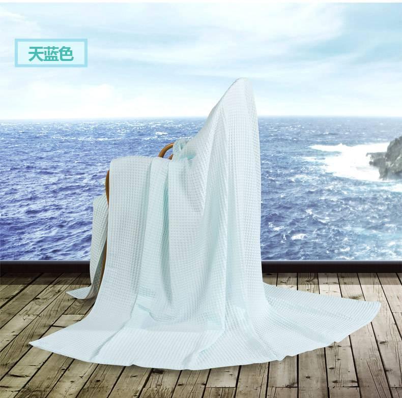 艺特佳家纺冰淇淋纹双人单人加厚全棉毛巾毯空调毯夏被毛毯特价示例图6