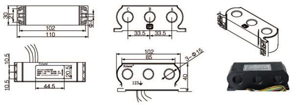 安科瑞,测量型电流互感器,AKH-0.66-60I,额定电流比1000-2500/示例图22
