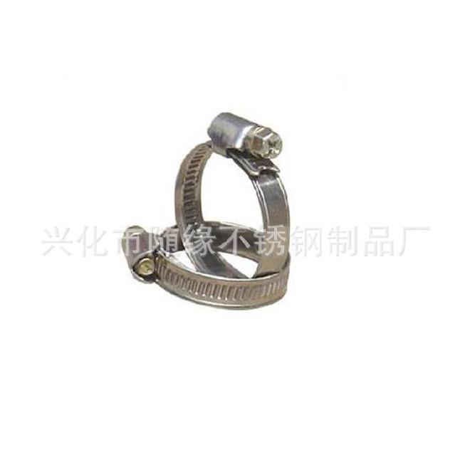 厂家生产不锈钢强力箍12mm美式304不锈钢喉箍 固定卡箍抱箍规格齐示例图6