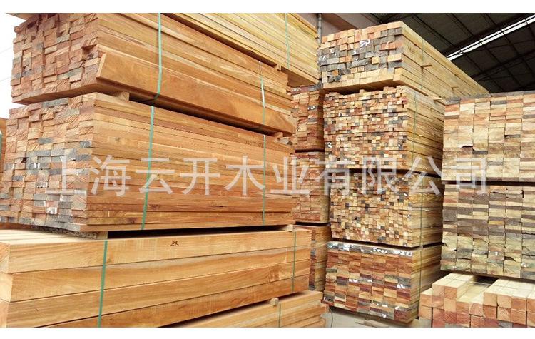 菠萝格地板 菠萝格防腐木板材 菠萝格木方圆柱 户外园林景突然间丹田之中观定制示例图4