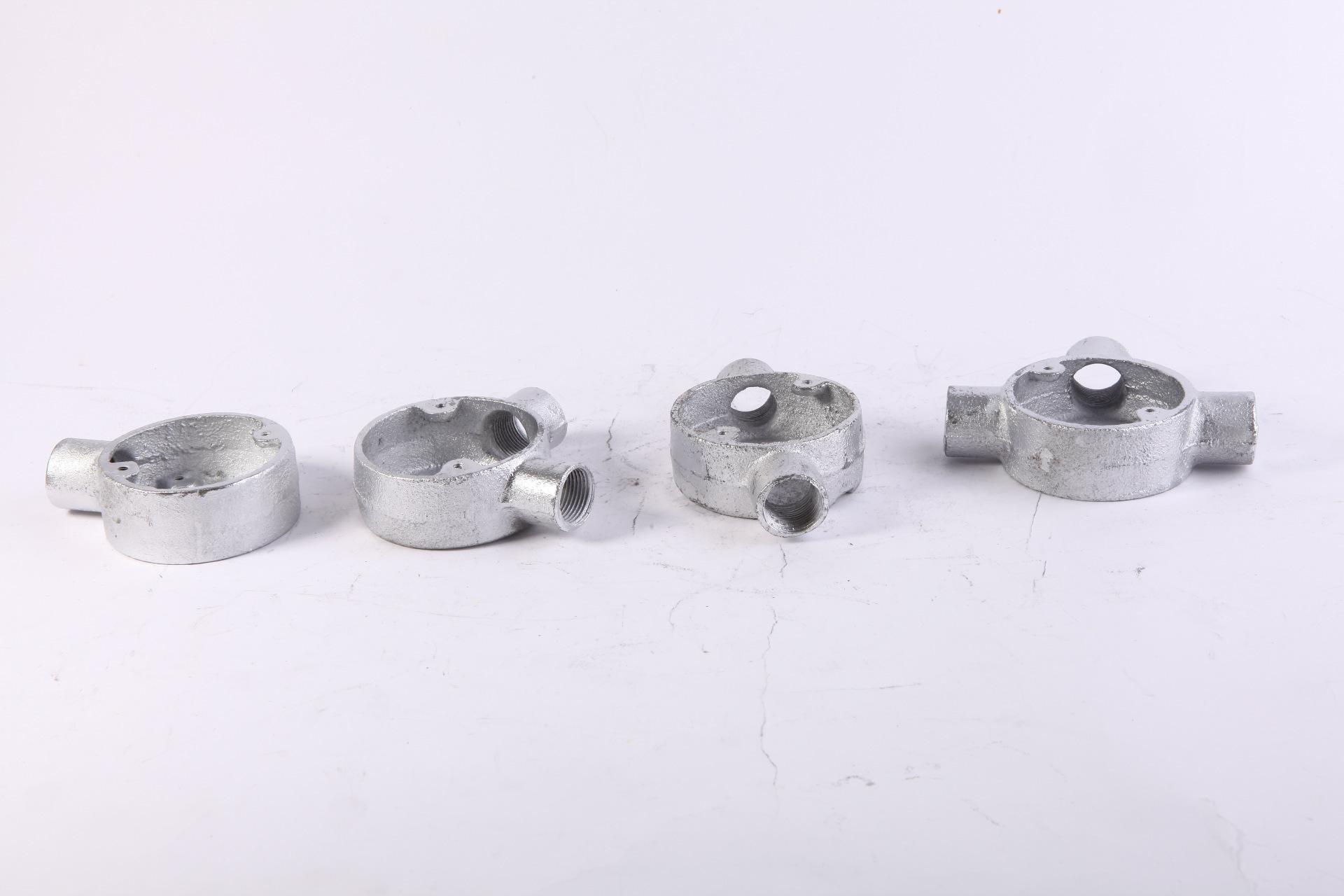 厂家直销热浸锌四级管配件 铸铁司令箱 25mm玛钢司令箱示例图4