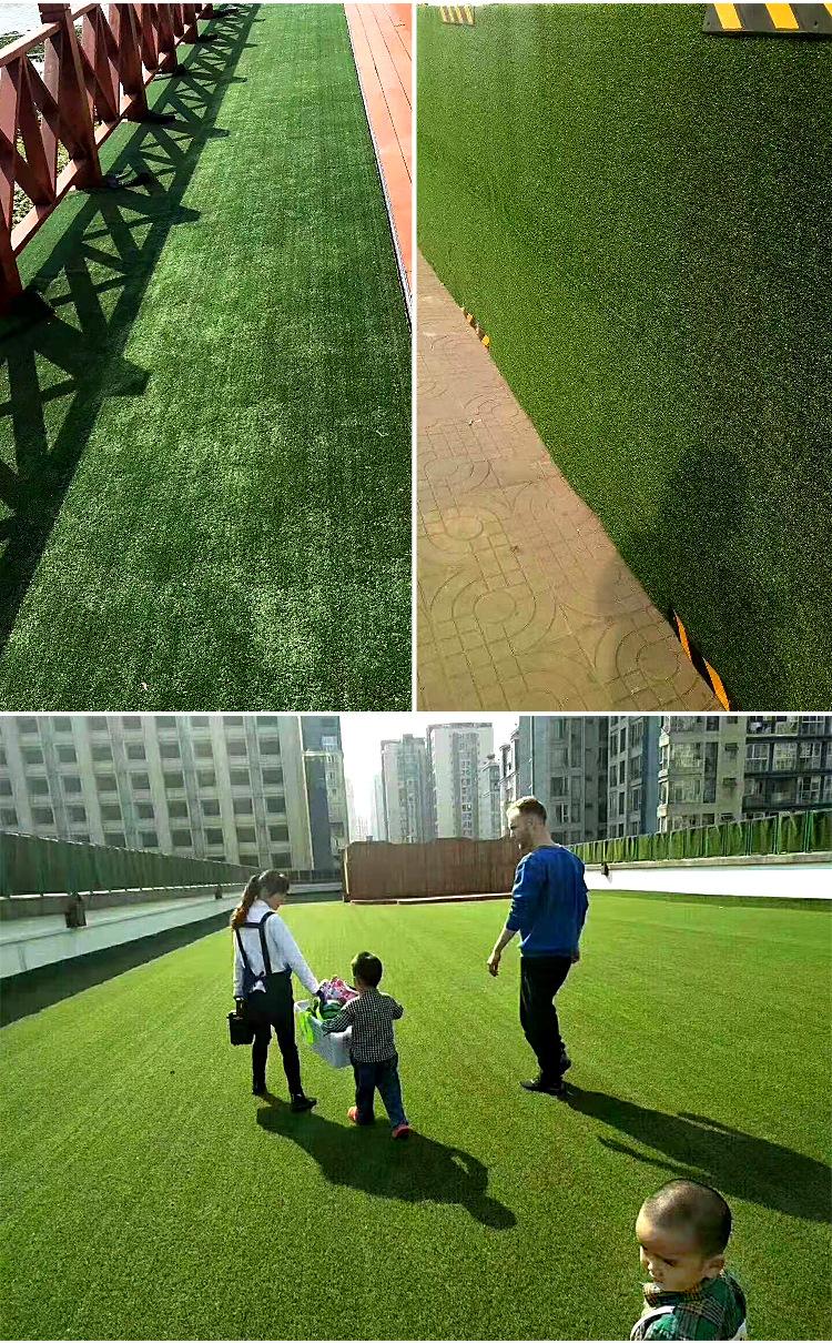 仿真草坪人造草 假草坪地毯 幼儿园彩色草皮人工塑料假草绿色户外示例图9