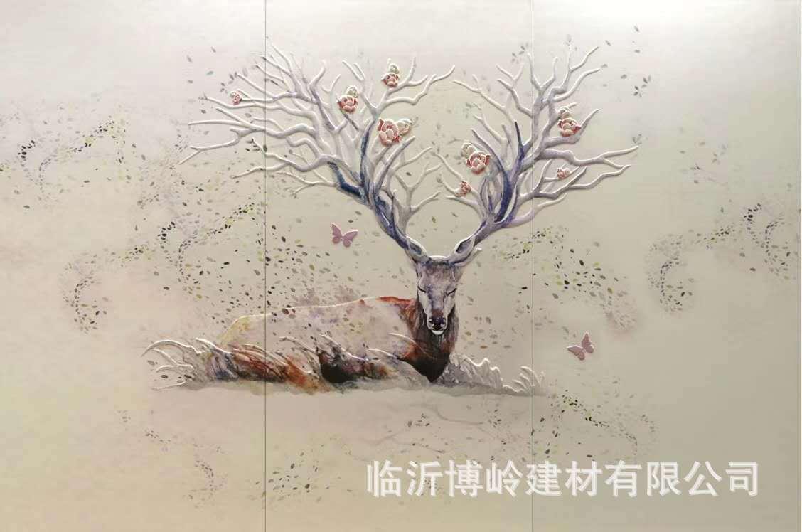 高端定制 沙发客厅卧室床头玄关背景墙 5D皮雕艺术背景墙示例图1