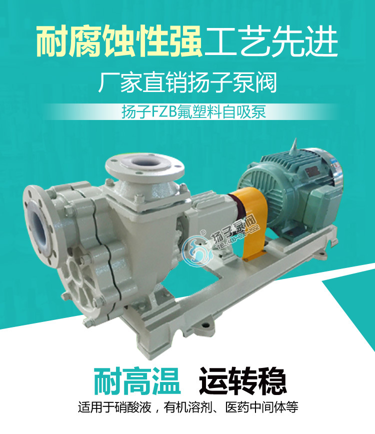 50FZB-30L 自吸泵型号结构污水卧式自吸排污泵厂家 耐酸碱自吸泵示例图1