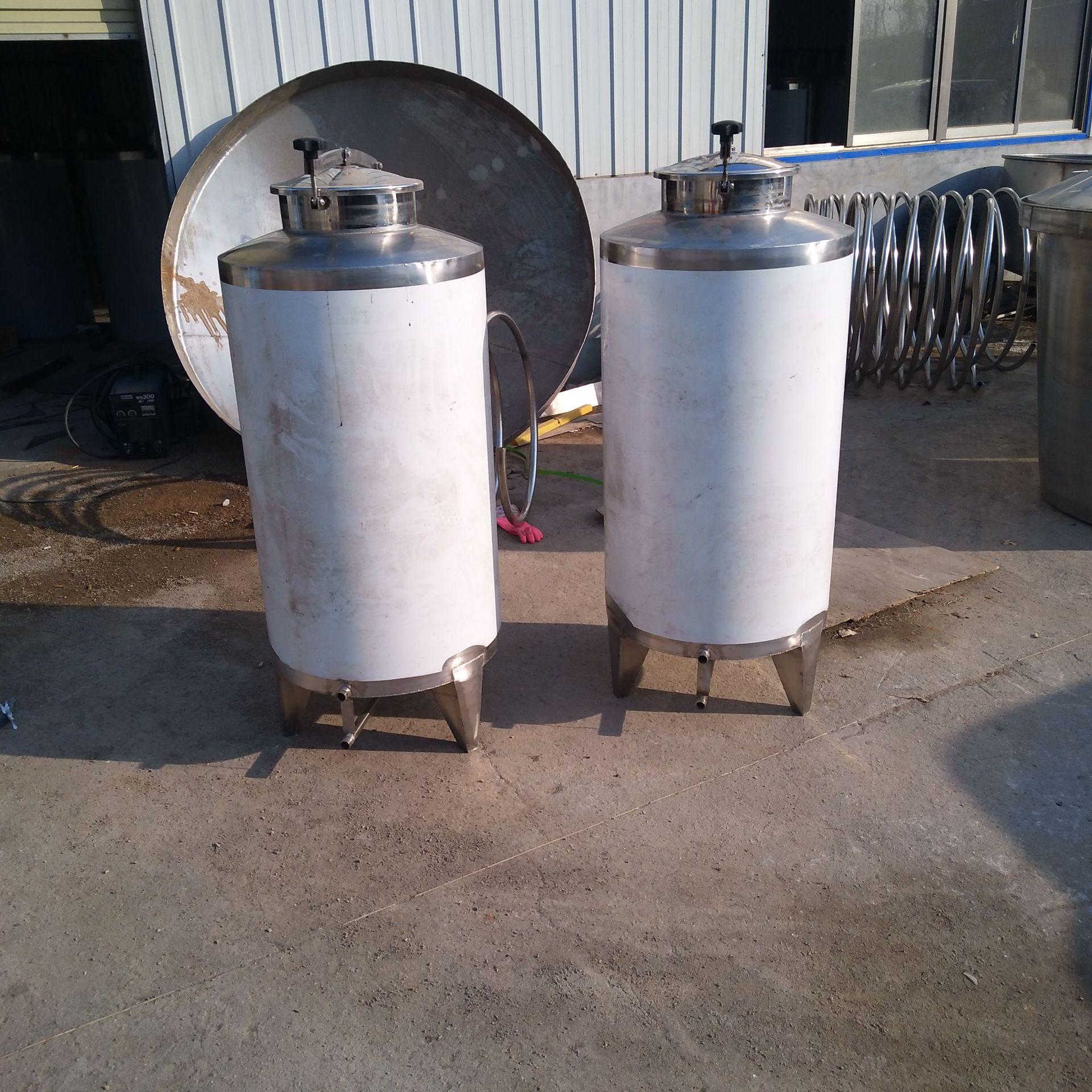 不锈钢304加厚密封酒桶 50升100升 200升定做加工储存酒水食用油示例图3