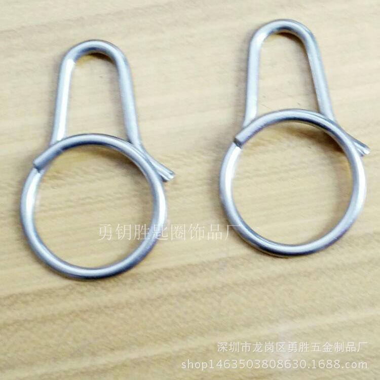 一体快拆式钥匙扣 创意钛合金匙圈挂件 原创设计男女钥匙环示例图8