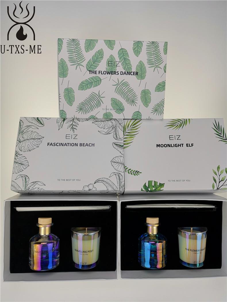玻璃杯家居植物精油环保进口大豆蜡烛散香器香薰套装伴手礼示例图9