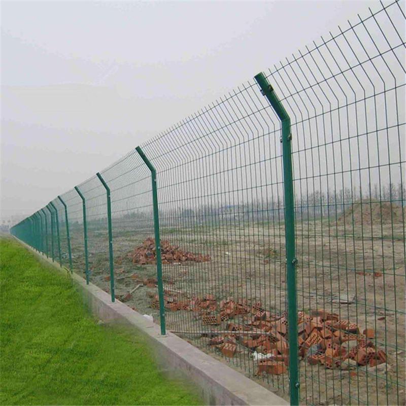 浸塑绿色双边丝护栏网 双边丝护栏网现货 养殖林场围栏网